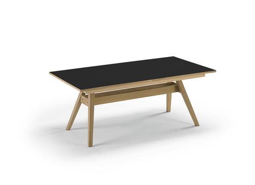 Skovby SM 11 spisebord Hvit laminat Hvitoljet eik
