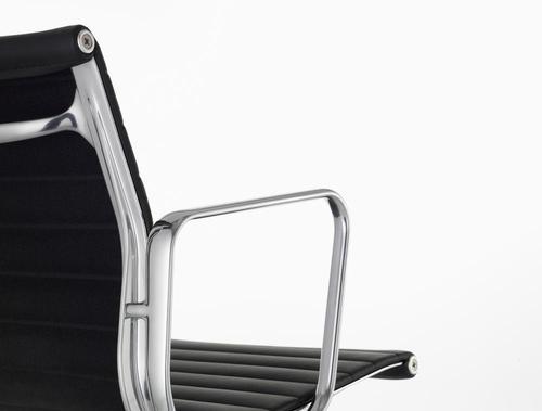 Vitra Aluminium group EA 108 Leather Nero Chrome